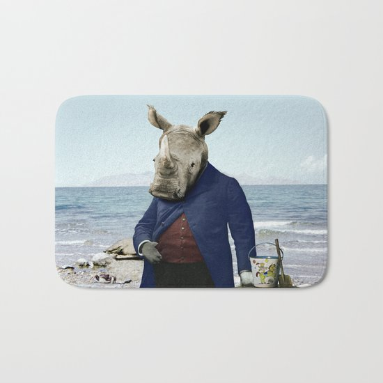 Mr. Rhino's Day at the Beach Bath Mat