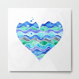 A Sea of Love (white) Metal Print