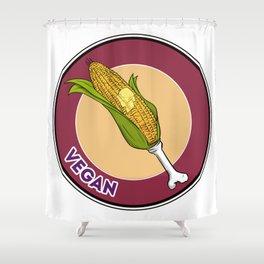 Vegan Turkey Leg Shower Curtain