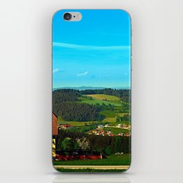 Small farm with built-in panoramic view iPhone Skin