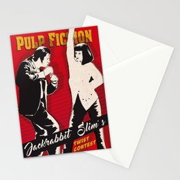 Mia and Vincent Vega art print Stationery Cards