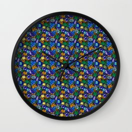 Gems pattern 1 Wall Clock