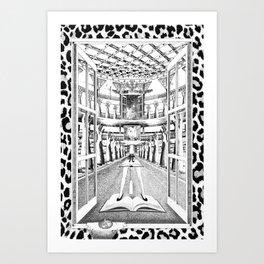 TECHOS BAJOS, POCAS PALABRAS Art Print