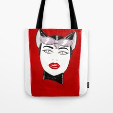 80's Fashion Catwoman Tote Bag