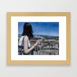 Girl in SF Framed Art Print