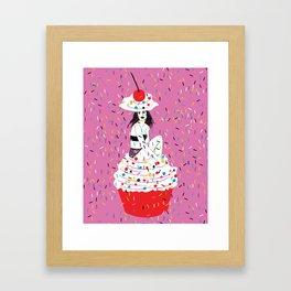 sprinkle the love Framed Art Print