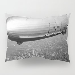 Airship over New York Pillow Sham