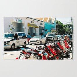 Line of bikes Rug