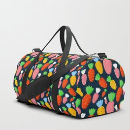 Carrots not only for bunnies - seamless pattern Duffle Bag
