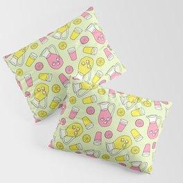 Summer Doodle - Pink and Yellow Lemonade Pattern Pillow Sham