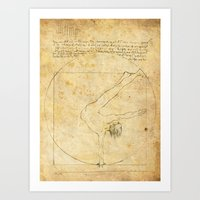 da vinci Art Prints featuring Break-Da (vinci) nce by boonheilig