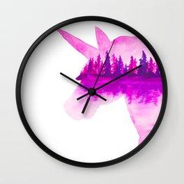 Unicorn Reflection Wall Clock