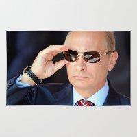 putin Area & Throw Rugs featuring mr.Putin by Mikhail Zhirnov