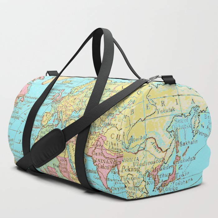 Map_of_the_World_Duffle_Bag_by_The_Wellington_Boot__SET_OF_3
