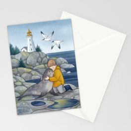 Boy with the Seal Stationery Cards