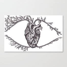 One must look with the heart Canvas Print