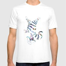We Are All Mad Here MEDIUM White Mens Fitted Tee