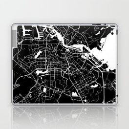 Amsterdam Black on White Street Map Laptop & iPad Skin