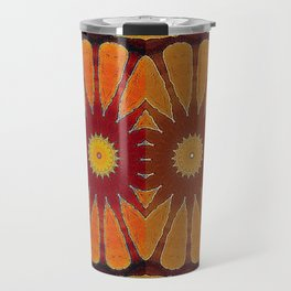 Orange flower pattern daisy Travel Mug