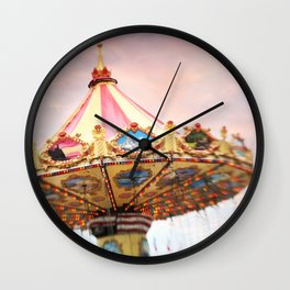 dusk at the fair Wall Clock