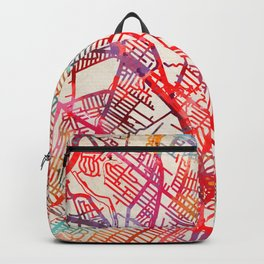 Hackensack map New Jersey NJ Backpack