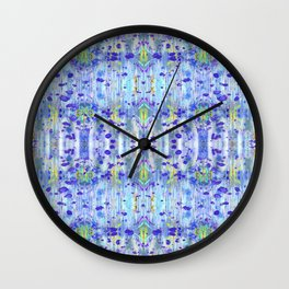 Royal Blue Ikat Wall Clock