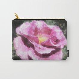 Rosas Moradas 3 Watercolor Carry-All Pouch