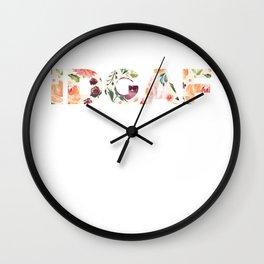 Flowery Language: I Don't Give A Fuck (IDGAF) Wall Clock
