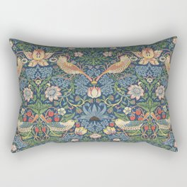 Strawberry Thief - Vintage William Morris Bird Pattern Rectangular Pillow