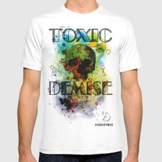 Toxic Demise MEDIUM White Mens Fitted Tee