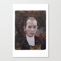 hunter s thompson Canvas Prints featuring Hunter S. Thompson by robertpriseman