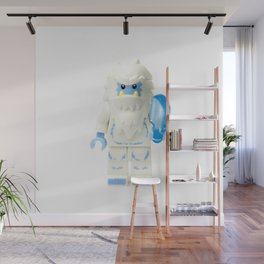White Yeti Minifig eating an icecream Wall Mural