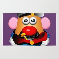 popeye Area & Throw Rugs featuring Popeye Potato Head by tgronberg