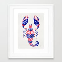 patriotic Framed Art Prints featuring Patriotic Scorpion by Cat Coquillette