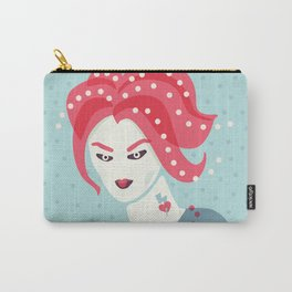 Portrait Of A Girl With Pink Hair Carry-All Pouch