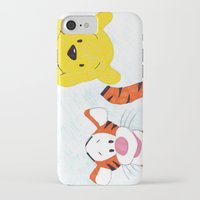 tigger iPhone & iPod Cases featuring winnie the pooh and tigger by Art_By_Sarah
