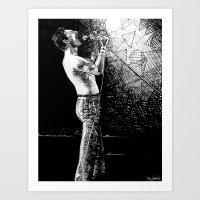 Circle, Squares, and Freddie Art Print