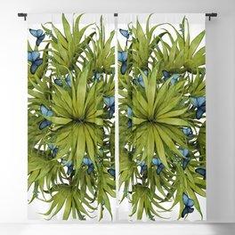 """El Bosco fantasy, tropical island blue butterflies 02"" Blackout Curtain"