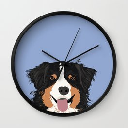 Australian Shepherd cute pastel aussie owner gifts must haves for dog person customized pet portrait Wall Clock