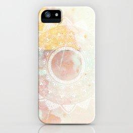 Precious white mandala on pink iPhone Case