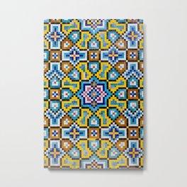 Persian Mosaic Tile Pattern Metal Print