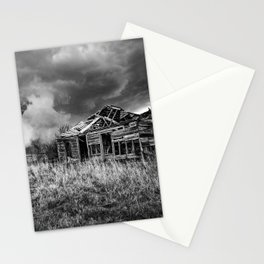 Glory Days - An Abandoned House and Storm in Kansas Stationery Cards