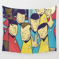 star Wall Tapestries featuring Star Trek by Ale Giorgini