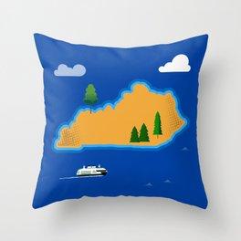 Kentucky Island Throw Pillow