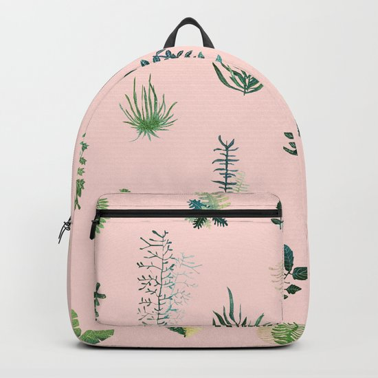 pink natural pattern Backpack