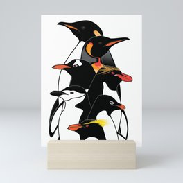 Penguins of Antarctica (vertical) Mini Art Print