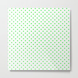 Dots (Green/White) Metal Print