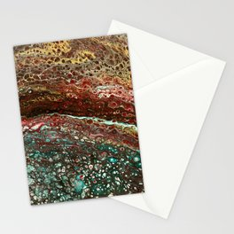 Cool, lava - acrylic pour painting Stationery Cards