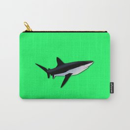 Great White Shark  on Acid Green Fluorescent Background Carry-All Pouch