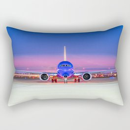 Face to face with a Boeing 737 Max 8 Rectangular Pillow
